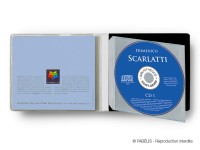 """Pochette souple taille """"L""""pour 1 CD - bibliothèque / audio"""