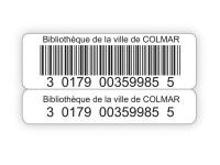 Etiquettes code-barres avec quatre rappels pour bibliothèques et CDI de lycées et collèges