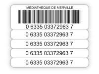 Etiquettes code-barres à quatre rappels pour bibliothèques et CDI de lycées et collèges