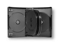Boîtier 10 DVD, noir, modèle idéal pour l'équipement du secteur musique en bibliothèques