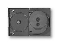 Boîtier pour 4 DVD mince, 14 mm
