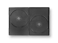 Boitier 2 DVD mince, fixations décalées pour RFID
