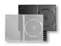 Boitier slim pour 1 DVD, épaisseur 7 mm. Disponible en noir et transparent