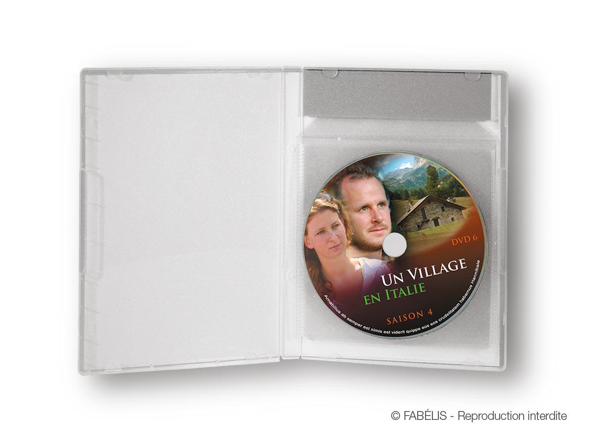 Boîtier de 6 DVD en pochettes pour solutionner le risque de fissures ou de casse des DVD