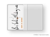 Porte-cartes 2 volets transparent pour cartes de lecteur