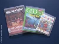 Protège magazine pour lecture sur place