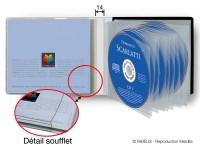 Fabextra, pochette souple multi-volets avec soufflet, pour CD multi-volets.