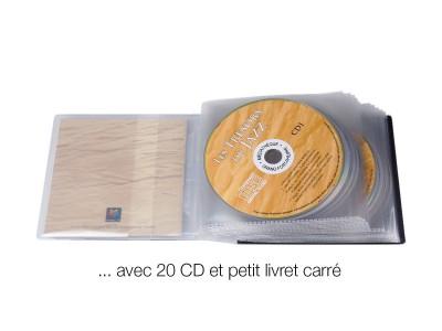 pochette 20 CD bibliothèque