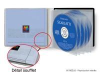 pochette CD multi CD avec soufflet pour livret