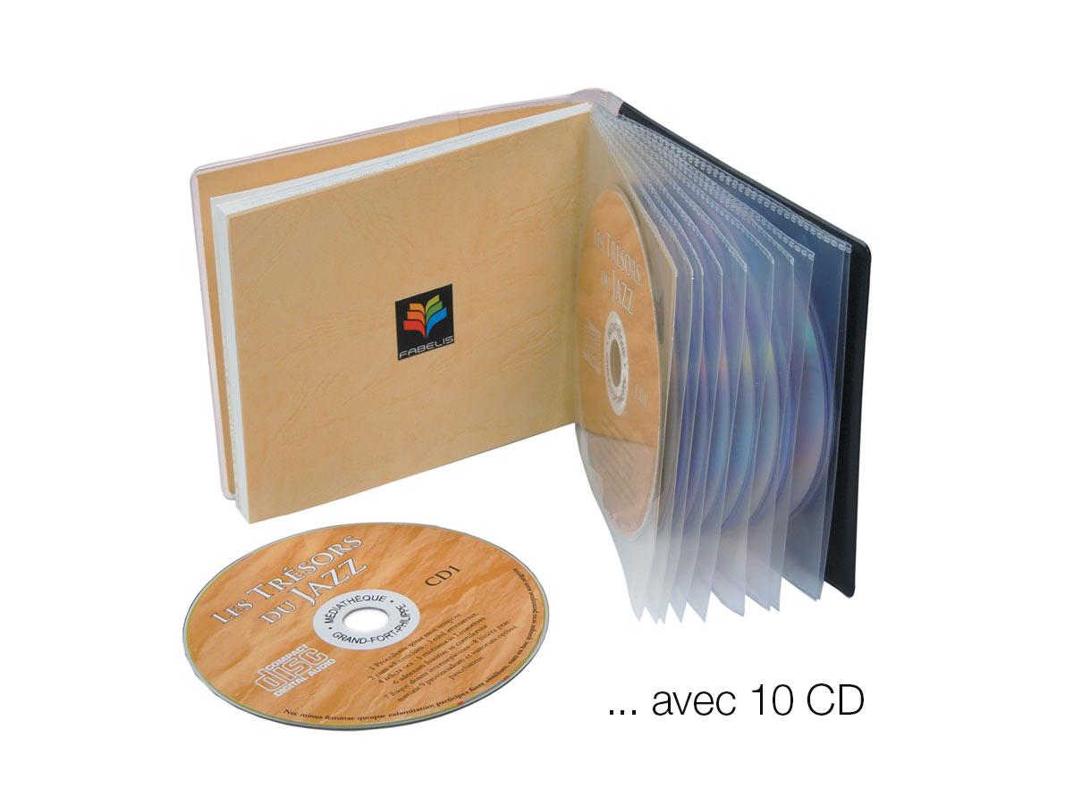 Pochettes plastiques CD - Fabextra L Pour 10 CD et grand livret