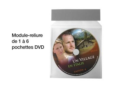 reliure pochettes boitier dvd