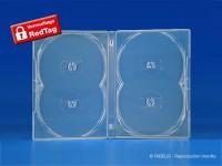Boîtier Amaray pour 4 DVD, verrouillable par barrette Redtag
