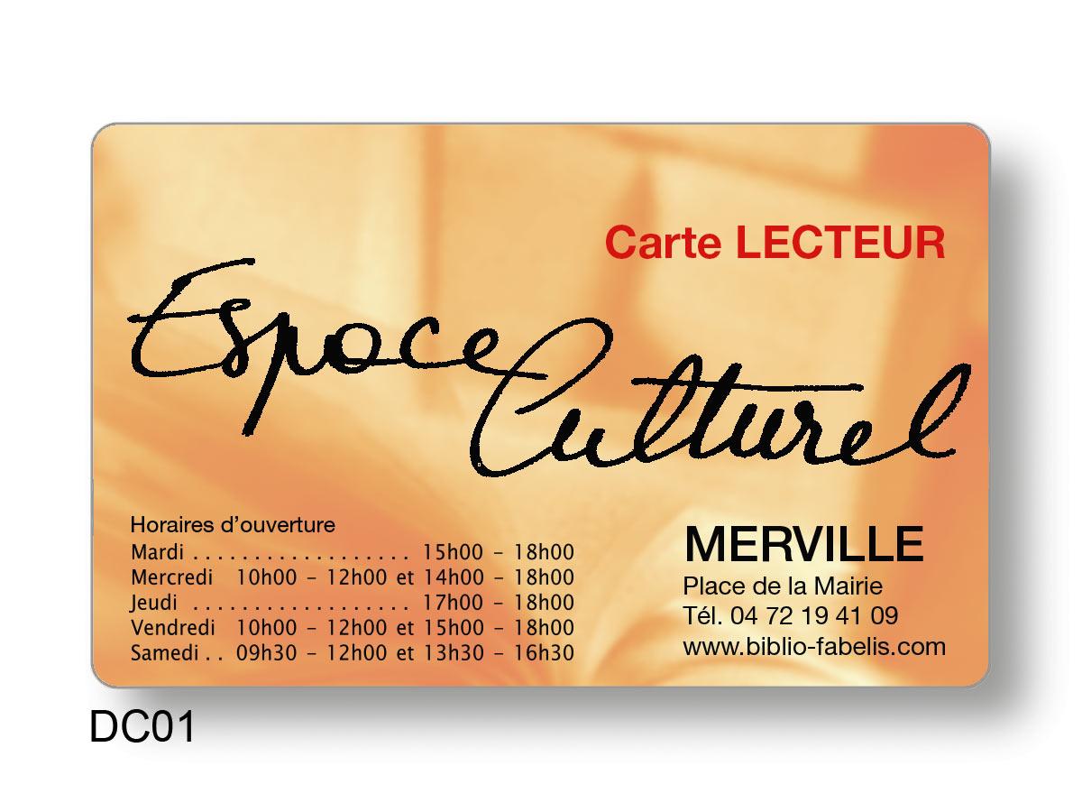 carte d'emprunteur du centre culturel