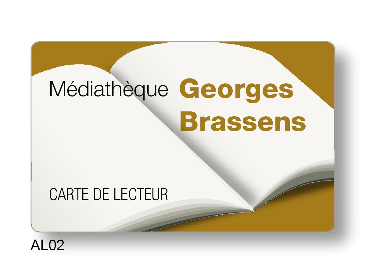 Carte le lecteur graphisme livre ouvert Médiathèque Georges Brassens