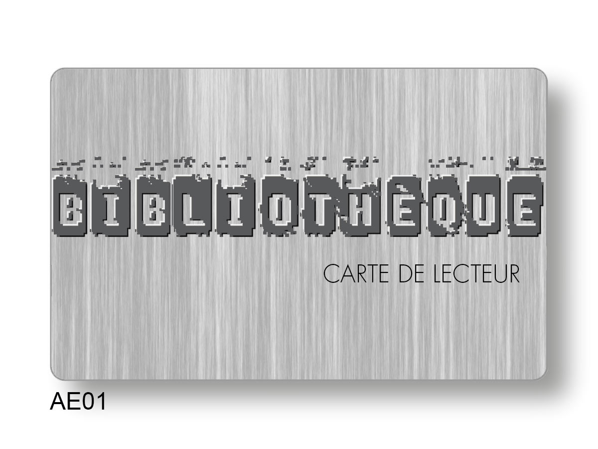 carte lecteur imprimée en offset