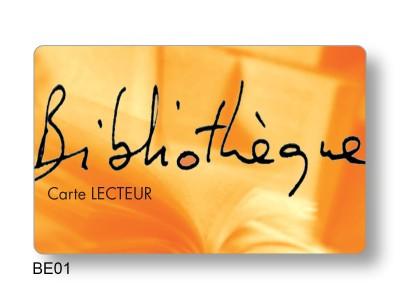 Carte PVC Bibliothèque municipale