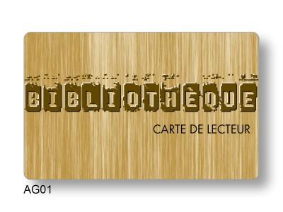 carte PVC code-barres overlay