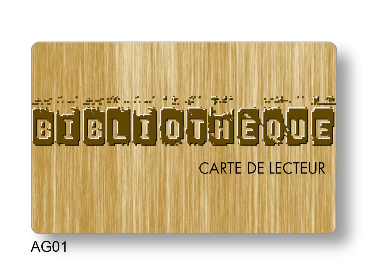 Création recto d'une carte PVC code-barres et overlay
