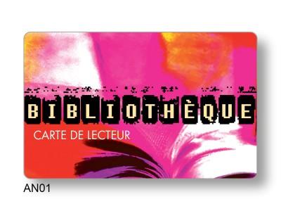 carte PVC fidélité bibliotheque