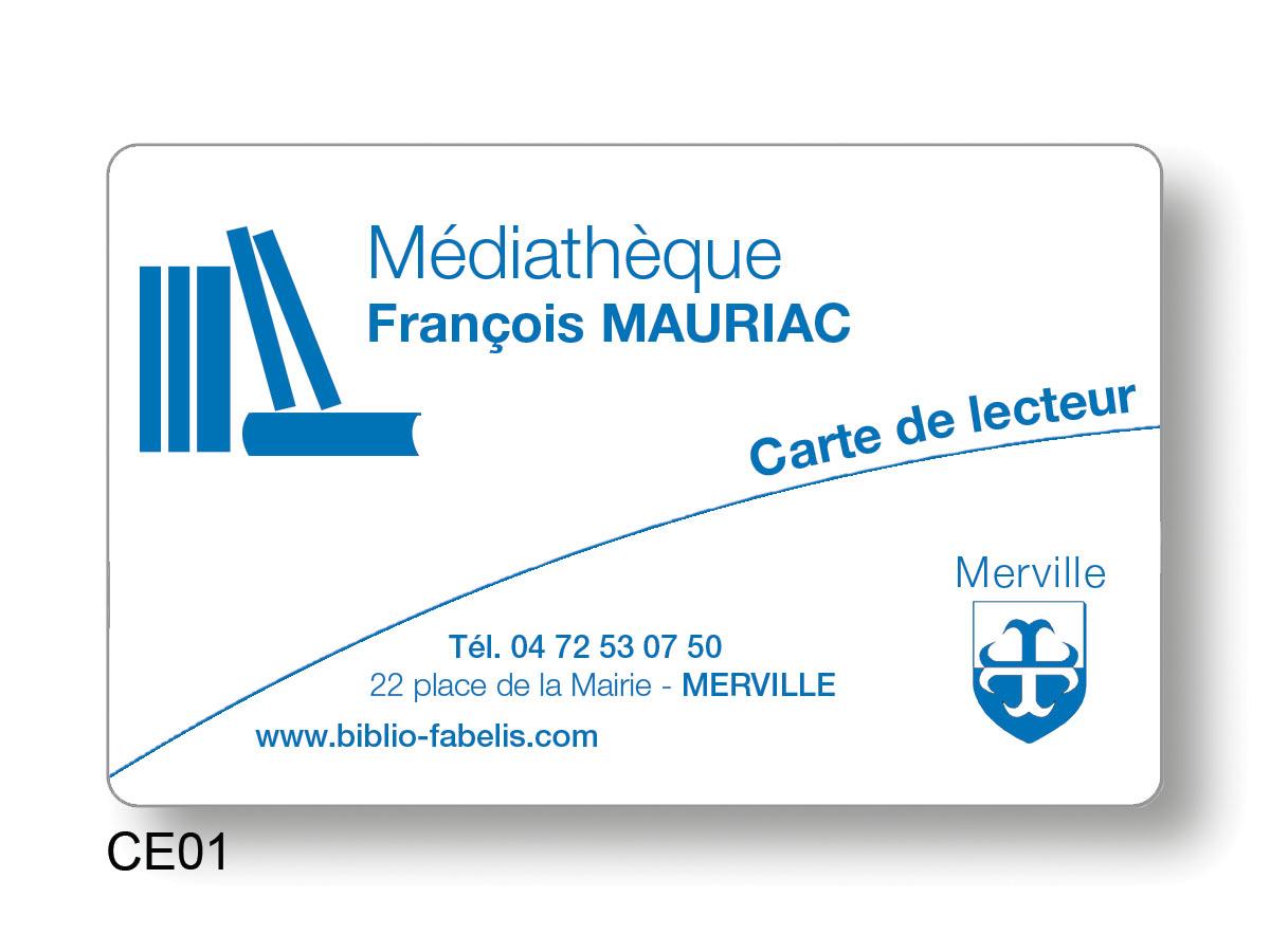 Cartes d'emprunteur cartes de lecteur en petites série de 100 ex à 1000 ex