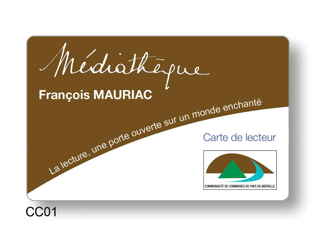Cartes lecteur médiathèque François Mauriac