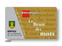 Conception de cartes PVC pour emprunteur de documents