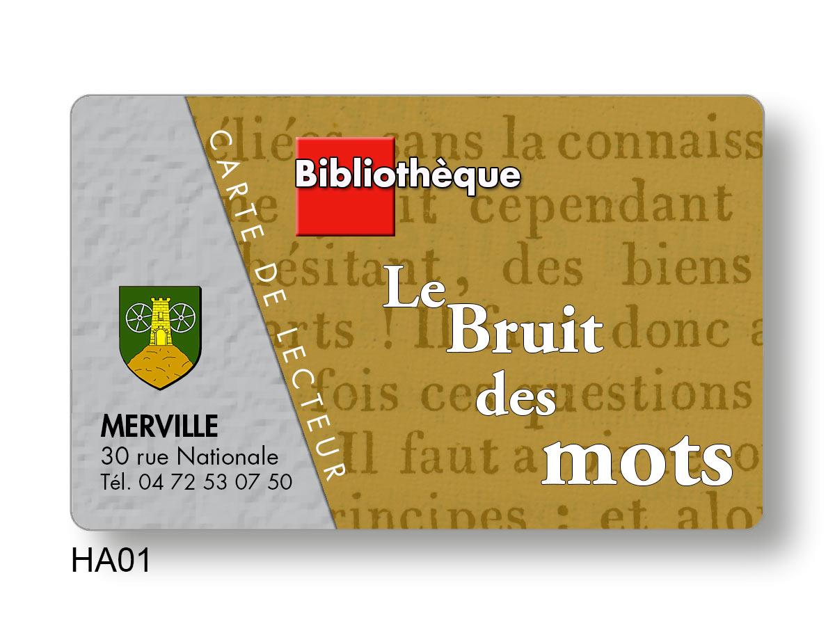 Conception de cartes PVC pour emprunteur de documents
