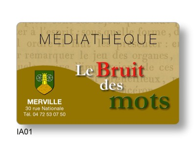 Fabrication cartes emprunteur médiathèques