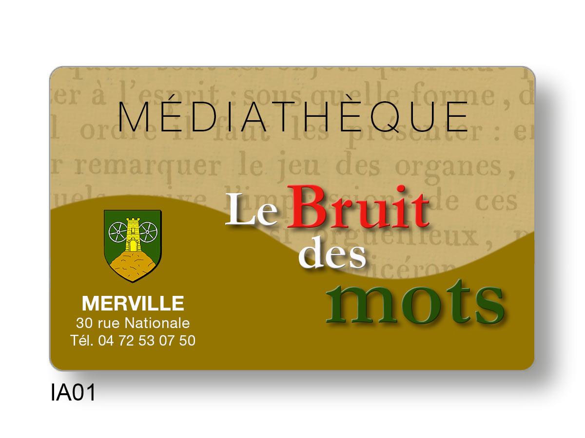 Fabrication de cartes d'emprunteur pour médiathèques