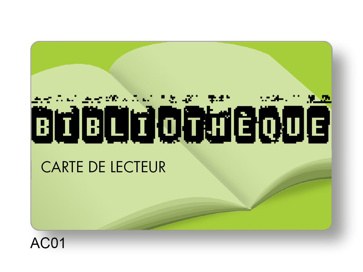 Carte de fidélité pour bibliothèque création PAO