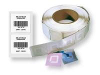 rouleau de 1000 étiquettes antivol RFID 9,75 à 10 mhz, imprimées avec code-barres