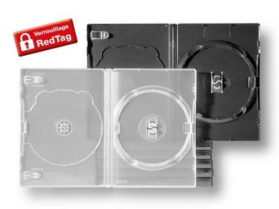 Boîtiers 2 CD verrouillables par barrette RedTag