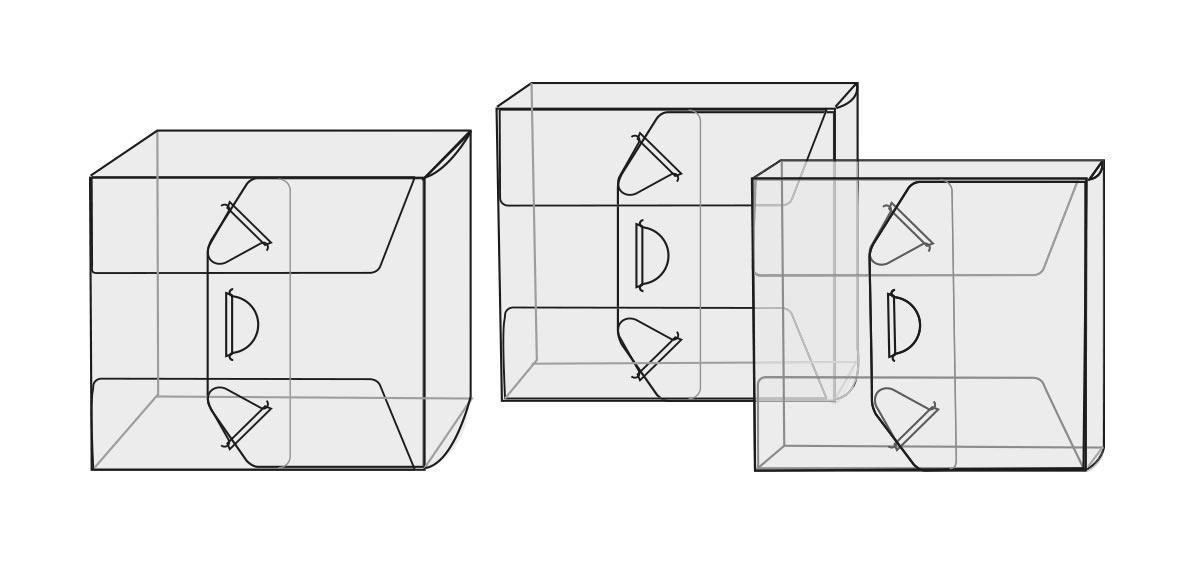 Tracé des coffrets pour jewel-Box avec gros livret ou pochettes Gain de place