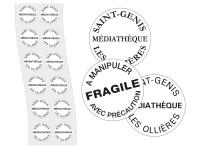Etiquettes adhésives rondes de propriété