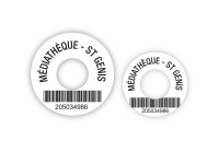 Macarons - adhésif de propriété pour CD et DVD avec code-barres pour utilisation en bibliothèques