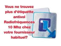 Etiquettes antivol 9,75 Mhz pour bibliothèques