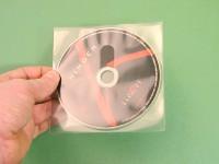 Pochette adhésive pour 1 CD avec découpe coup de pouce