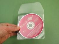 Pochette 3L adhésive pour CD, avec rabat