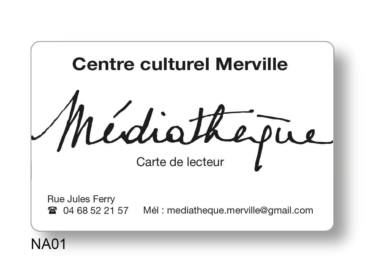 """carte avec écriture """"Médiathèqueé"""