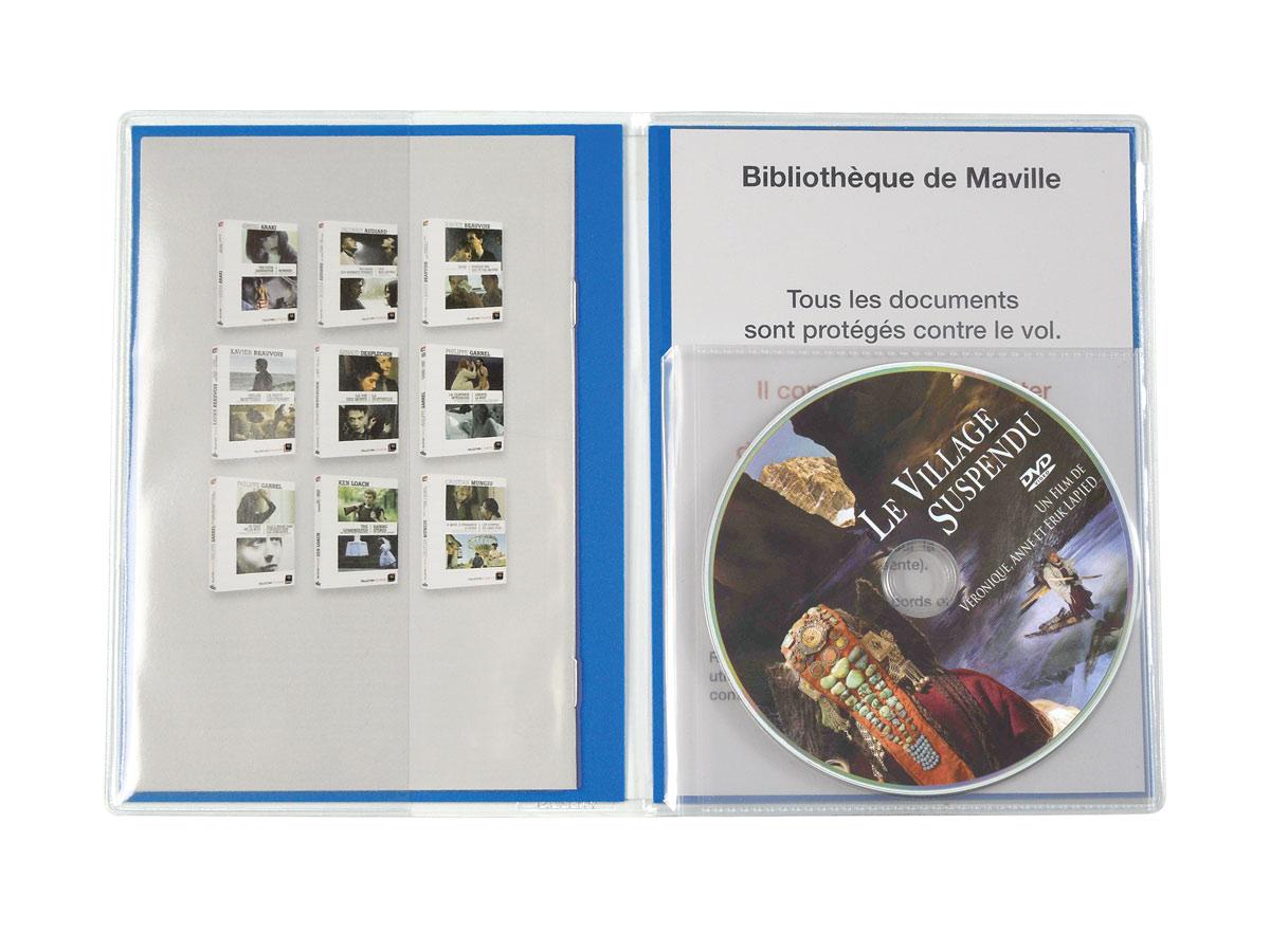 pochette pour rangement DVD avec la jaquette