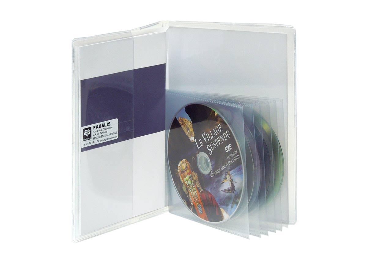 Etui à pochettes pour 6 DVD