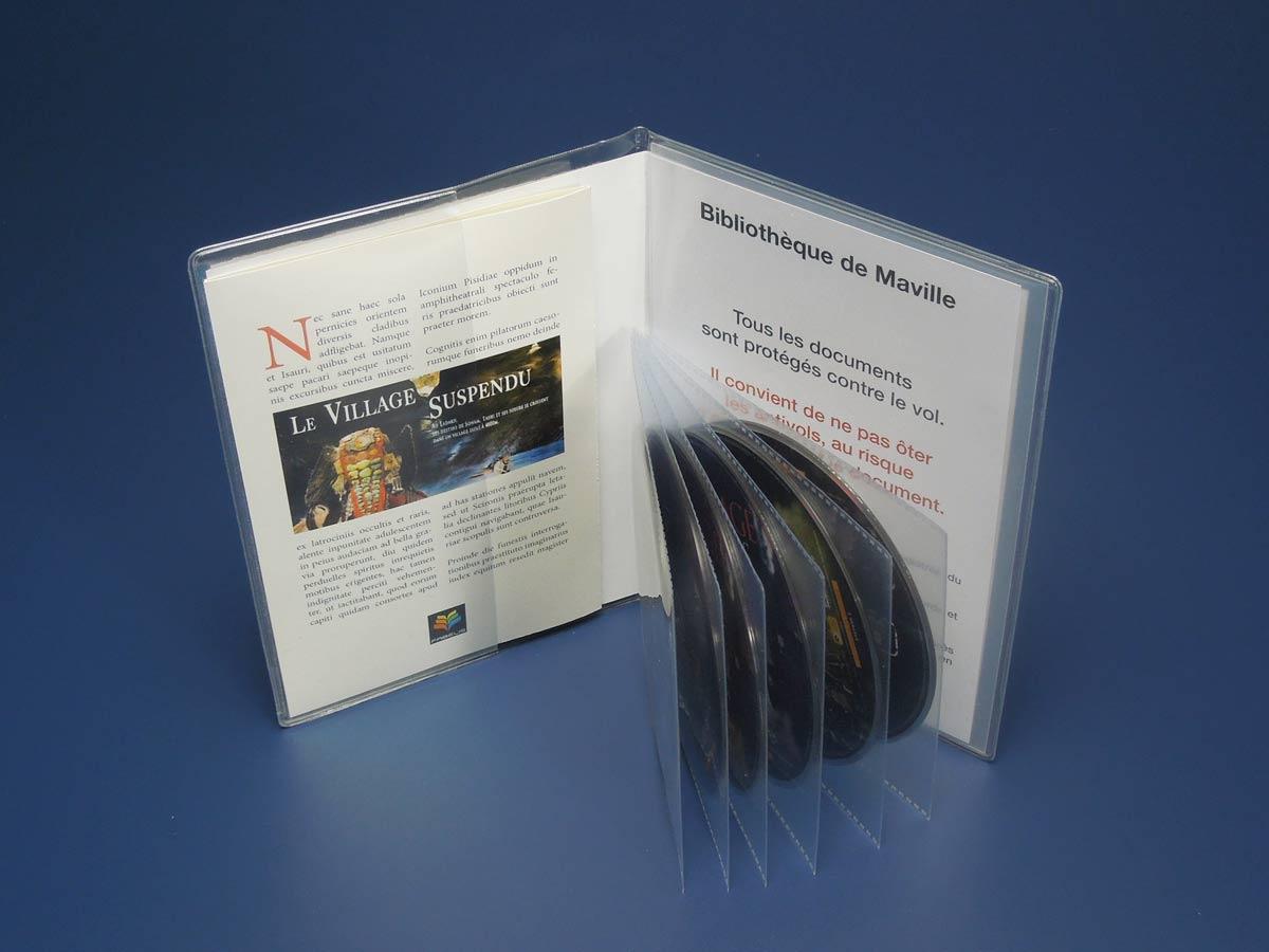 Pochettes pour 6 DVD avec la jaquette et son livret